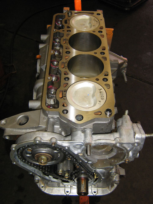 remanufactured engine block without cylinder head