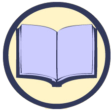 knowledge base library book icon round