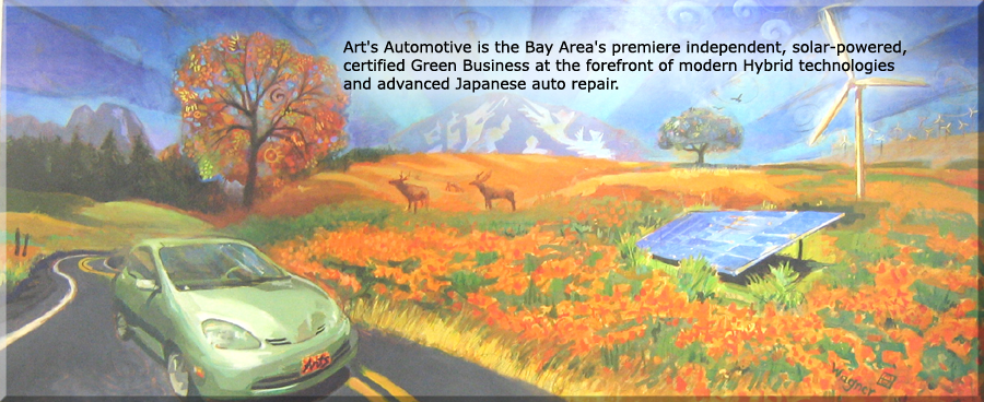 Art's Automotive is the Bay Area's premiere independent, solar-powered, certified Green Business at the forefront of modern Hybrid technologies and advanced Japanese Auto repair.