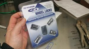 Many times, the dealer tech will install the mag locks, then put the lug nuts he removed back in the package. The first thing I did when I bought my Sonata Hybrid is remove the wheel locks to sell on EBay. I'm hoping to convince you dear reader to do the same!