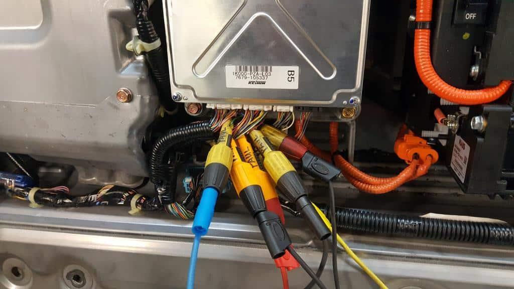 IMA Motor Encoder wires at the ECM