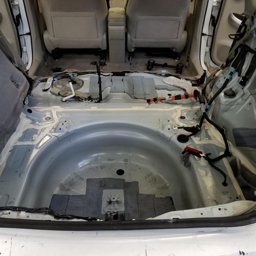 Prius with rear interior removed. It's very clean