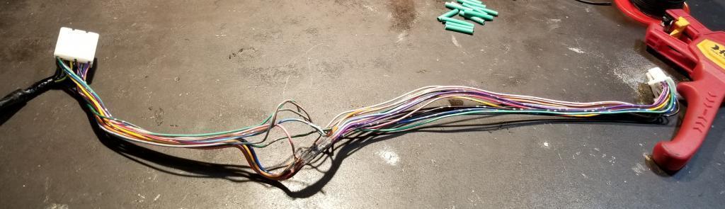 badly damaged inverter harness