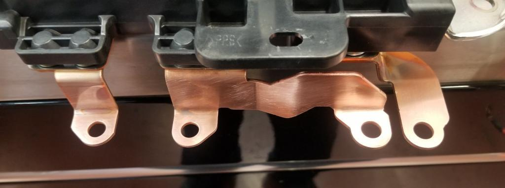 copper terminals after being deoxidized