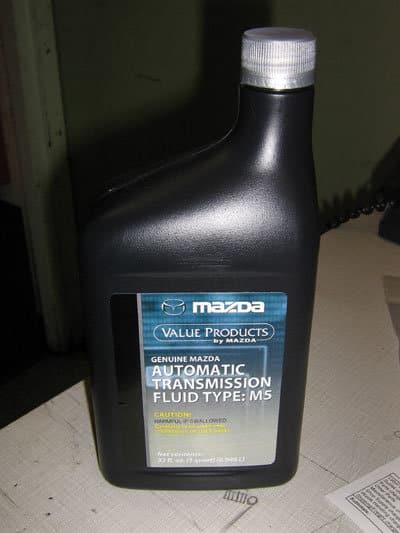 Mazda M5 ATF in quart bottle
