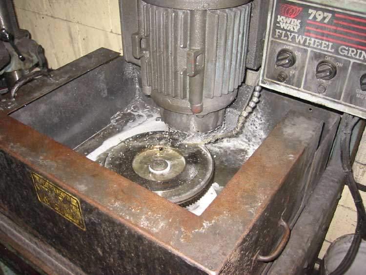flywheel being machined