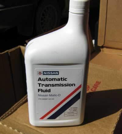 Nissan Matic-D ATF in quart bottle