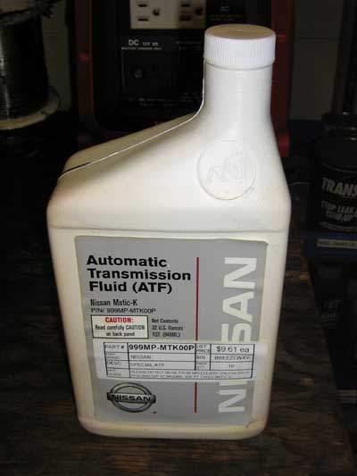 Nissan Matic-K fluid in quart bottle