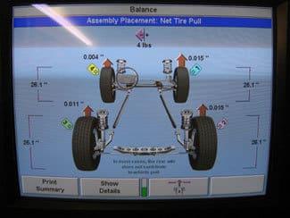 GSP9700 wheel balancer screen