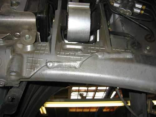 honda hybrid aluminum sub-frame