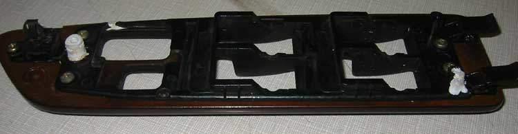repaired window switch bezel