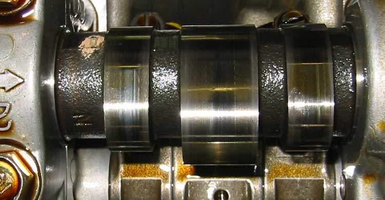 Acura cam lobe during valve adjustment
