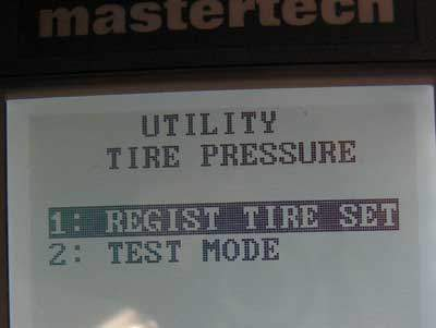 TPMS tool screen