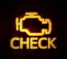 check engine light illuminated on instrument cluster