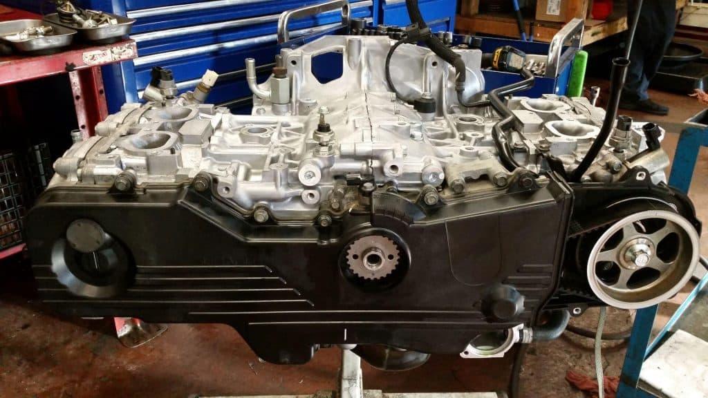 Completed engine repair