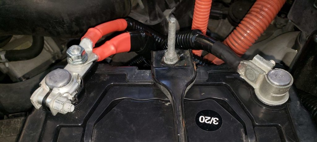 car battery with new cables