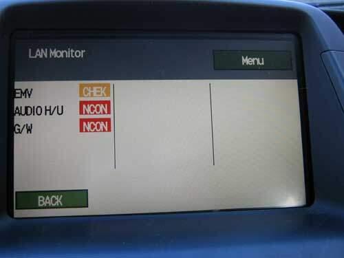 Prius self-diagnostic mode showing errors