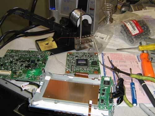 Disassembled Prius multi-display