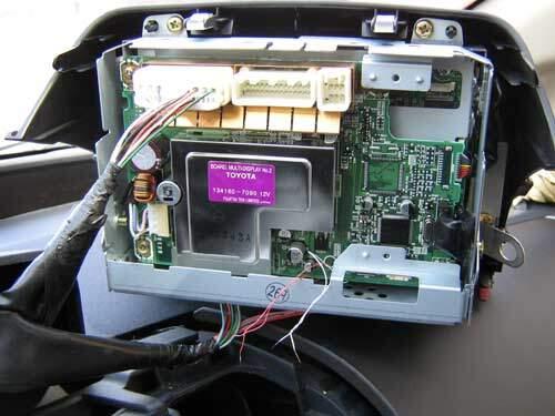 Prius multi-display being tested in car after repair