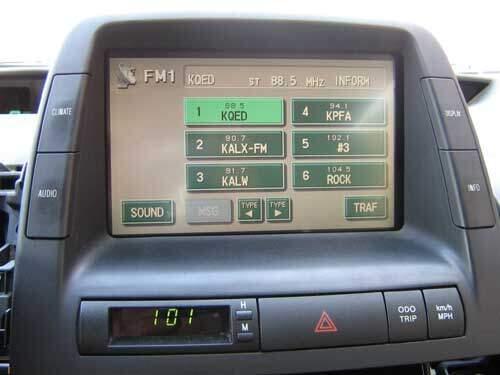 Prius multi-display radio working properly