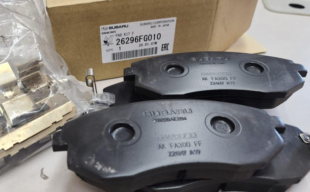genuine Subaru brake pads
