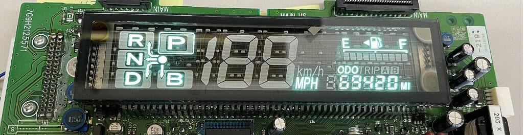 prius combination meter circuit board after repair