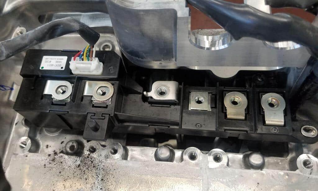 Picture of MGR IGBT inside Highlander Hybrid inverter case