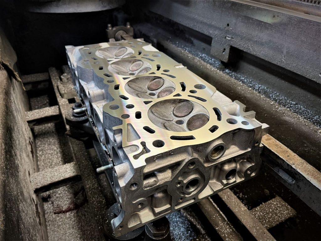 resurfacing a cylinder head in a CBN equipped mill