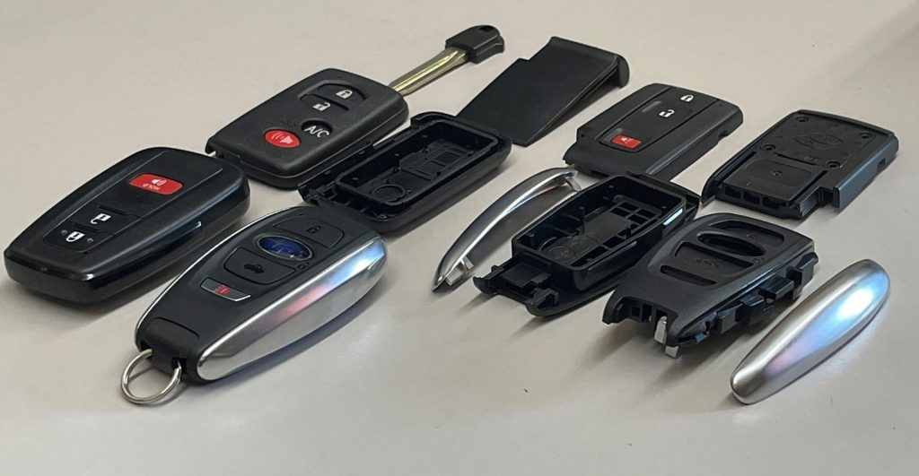 A selection of shells for smart key repair